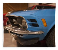1970 Mustang Mach 1 And Other Classics Hidden In A Garage Fleece Blanket