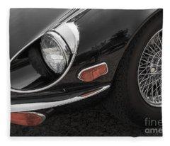 1972 Jaguar Xke Fleece Blanket