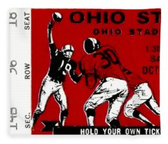 1979 Ohio State Vs Wisconsin Football Ticket Fleece Blanket