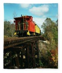1980s Now Defunct Kettle Moraine Scenic Fleece Blanket