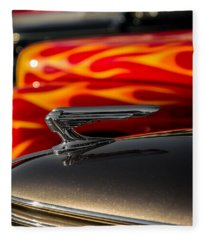 1939 Graham Coupe Hood Ornament Fleece Blanket