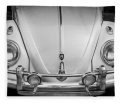 1960 Volkswagen Beetle Vw Bug   Bw Fleece Blanket