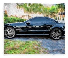 2006 Mercedes Benz Sl55 V8 Kompressor Coupe Painted  Fleece Blanket