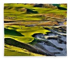 #9 At Chambers Bay Golf Course Fleece Blanket