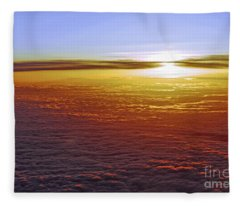 Above The Clouds Fleece Blanket