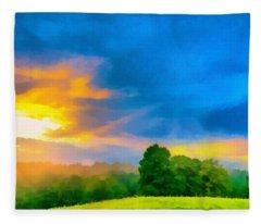 After The Storm Passes Fleece Blanket