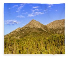 Alaska Mountains Fleece Blanket
