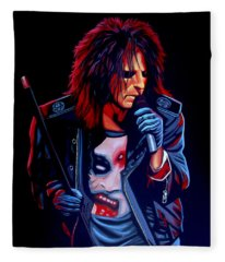 Alice Cooper Fleece Blankets