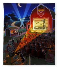 Ants At The Movies Fleece Blanket
