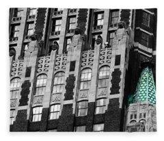Bank Of America Building Baltimore Fleece Blanket