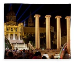 Barcelona By Night Fleece Blanket