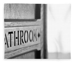 Bathroom Door Fleece Blanket