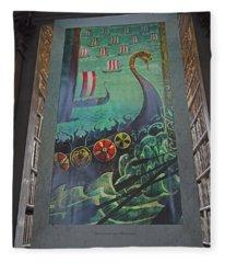 Battle Of Clontarf Fleece Blanket