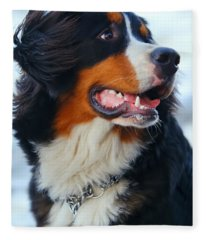 Beautiful Dog Portrait Fleece Blanket