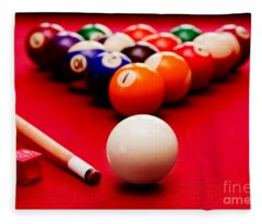 Billards Pool Game Fleece Blanket