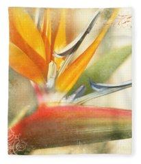 Bird Of Paradise - Strelitzea Reginae - Tropical Flowers Of Hawaii Fleece Blanket
