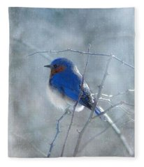 Blue Bird  Fleece Blanket