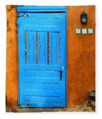 Blue Door In Santa Fe Fleece Blanket