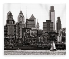 Center City Philadelphia Fleece Blanket