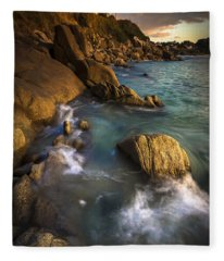 Chanteiro Beach Galicia Spain Fleece Blanket