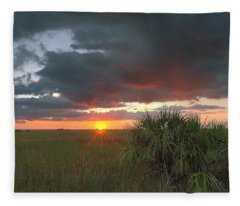 Chekili Sunset Fleece Blanket
