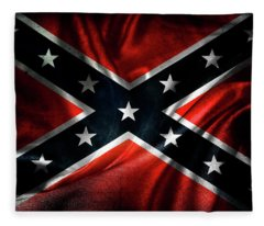Confederate Flag 1 Fleece Blanket