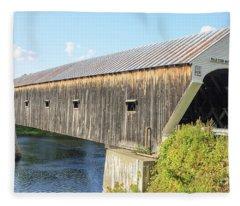Cornish-windsor Covered Bridge IIi Fleece Blanket