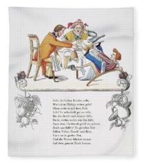 Der Struwelpeter, 1845 Fleece Blanket