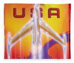 Discover The Usa Fleece Blanket