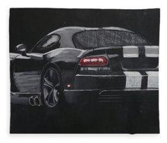 Dodge Viper 1 Fleece Blanket