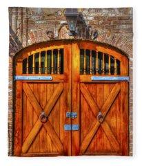 Doors Of Charleston Fleece Blanket