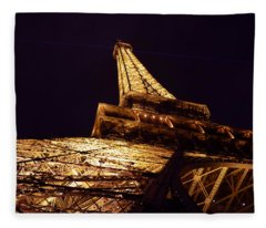 Eiffel Tower Paris France Fleece Blanket