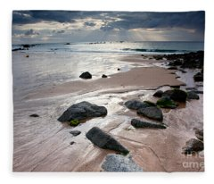 Evening At The Sea Fleece Blanket