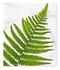 Fern Leaf Fleece Blanket