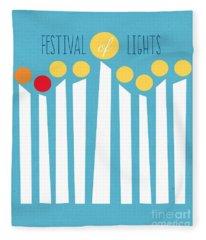 Festival Of Lights Fleece Blanket