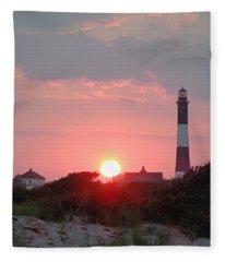 Fire Island Sunset Fleece Blanket