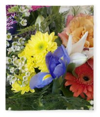 Floral Bouquet 4 Fleece Blanket