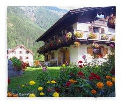 Flowery House Fleece Blanket