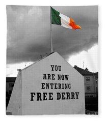 Free Derry Wall 1 Fleece Blanket