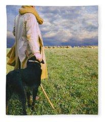 French Shepherd Fleece Blanket