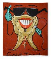 Gold Tooth Fleece Blanket