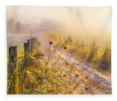 Good Morning Farm Fleece Blanket