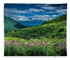 Hatcher's Pass Fleece Blanket