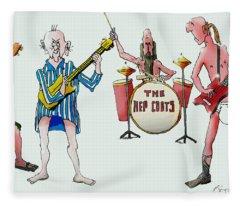 Sixties And Seventies Musicians Fleece Blanket