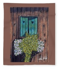 Homestead Window Watercolor Art Prints Fleece Blanket