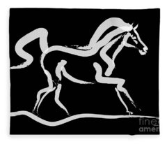 Horse-runner Fleece Blanket