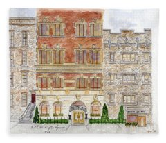 Hotel Washington Square Fleece Blanket
