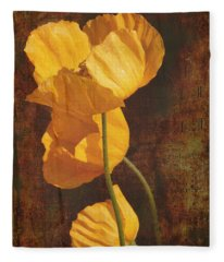 Icelandic Poppy Fleece Blanket