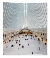 Interior View Of Oculus Transportation Fleece Blanket