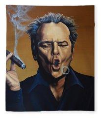 Jack Nicholson Painting Fleece Blanket